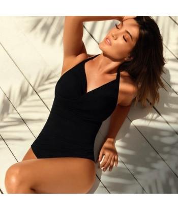 Vestido-baño-enterizo-drapeado-control-abdomen-copa-interna-soporte-mejor-cubrimiento-debajo-brazo