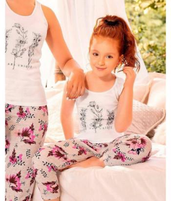 Pijama Niña Manga Atlética Pantalón