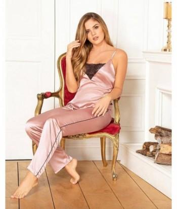 Pijama para Mujer Tiras Pantalón Pijama en satín