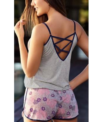 Pijama-short-manga-corta-viscosa-lycra-estampada-mujer-ropa-interior