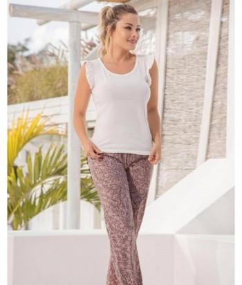 Pijama Mujer Manga corta con boleros Pantalón