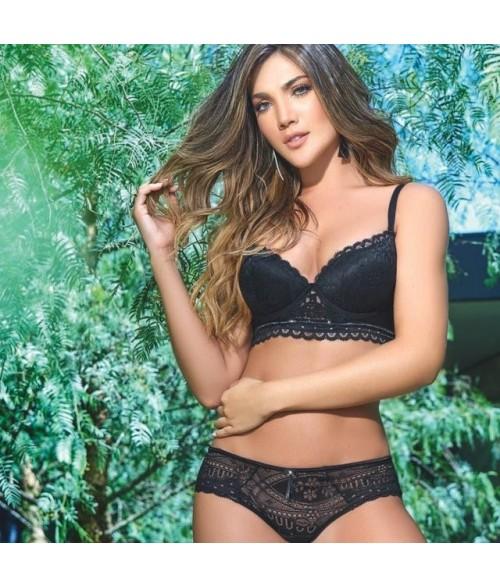 Conjunto-Brasier-encaje-copa-transpirable-realce-Panty-encaje-mujer-ropa-interior