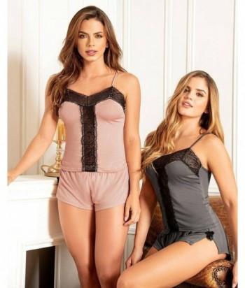 Pijama para Pijama Tiras Short Sensual Detalle en encaje