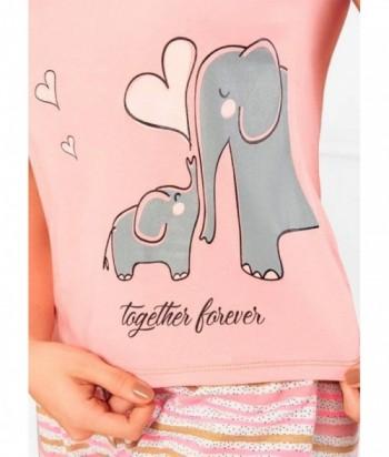 Pijama para Mujer Estampado elefantes Salmon