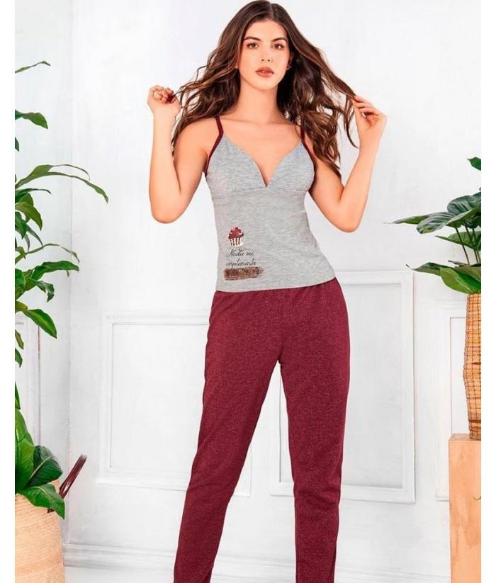 Pijama Mujer Tiras Pantalón