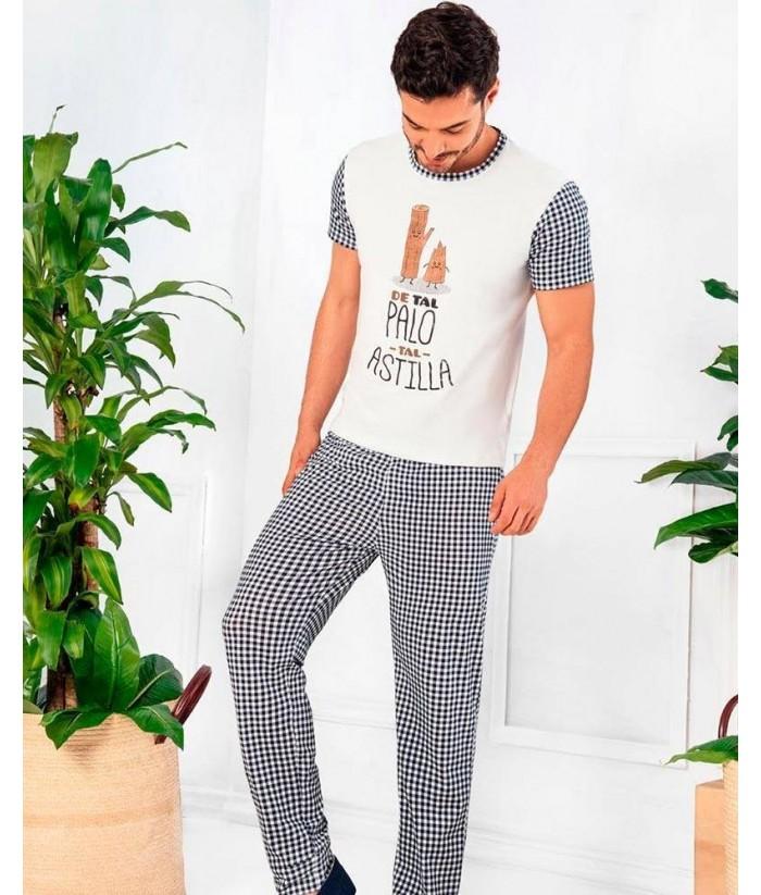 Pijama Hombre Manga Corta Pantalón