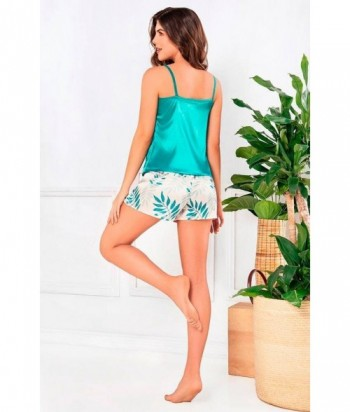 Pijama para Mujer Tiras Short Pijama en satín con Short Estampado