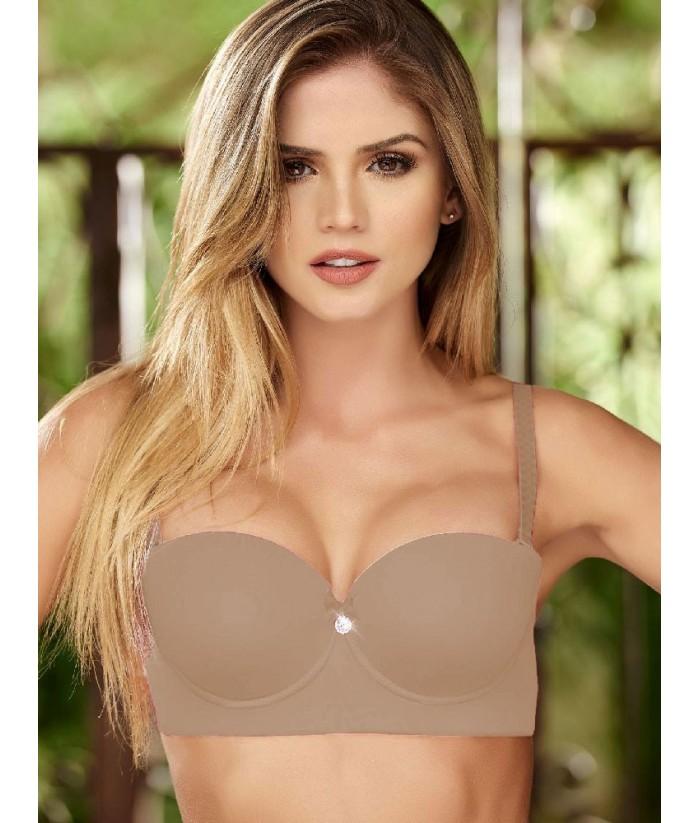 Brasier-Strapless-lycra-nylon-copa-transpirable-realce-ropa-interior-femenina-mujer