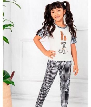 Pijama Niña Manga Corta Pantalón