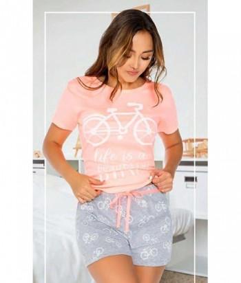 Pijama Mujer Manga Corta Short