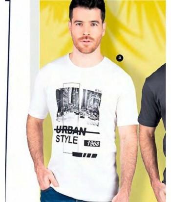 Camiseta Hombre Manga Corta Estampada