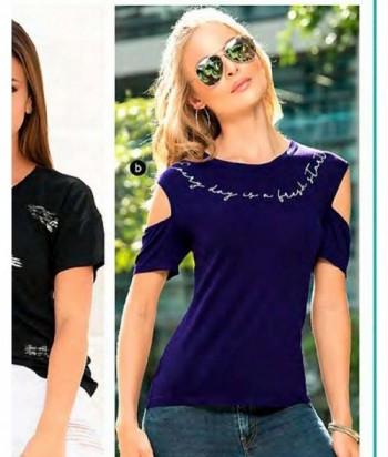 Blusa para Mujer Con hombros descubiertos Azul Oscuro