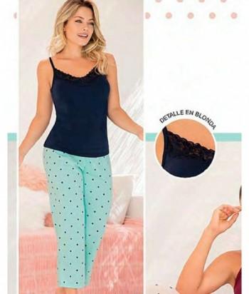Pijama Mujer Tiras Capri