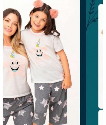 Pijama Niña Manga Corta Capri