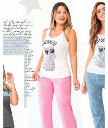 Pijama Mujer Manga Sisa Pantalón