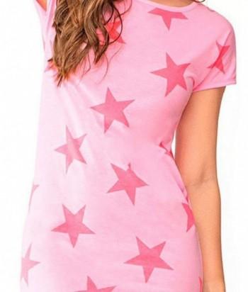 Pijama para Mujer Estampado de Estrellas Rosa Confite