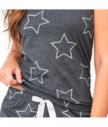 Pijama para Mujer Manga Corta Short Estampado de Estrellas