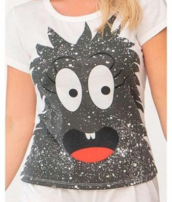 Pijama para Mujer Estampado Monstruo Vainilla