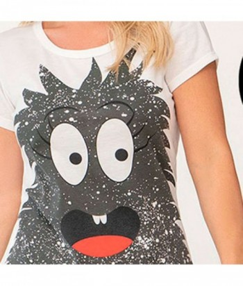 Pijama para Mujer Manga Corta Pantalón Estampado Monstruo