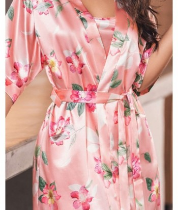 Pijama Satín para Mujer Levantadora en satín Estampada Arequipa