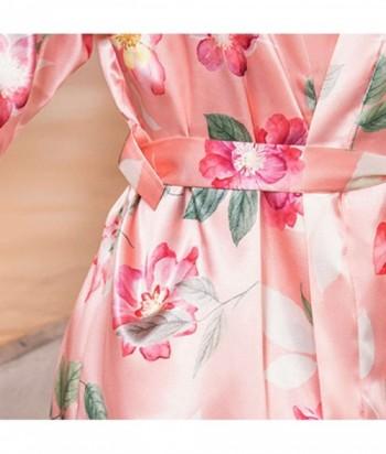 Kimono Levantadora en satín Estampada