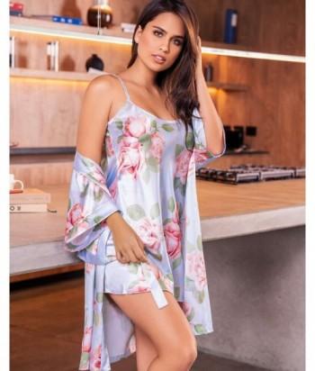 Pijama Satín Mujer Tiras Vestido