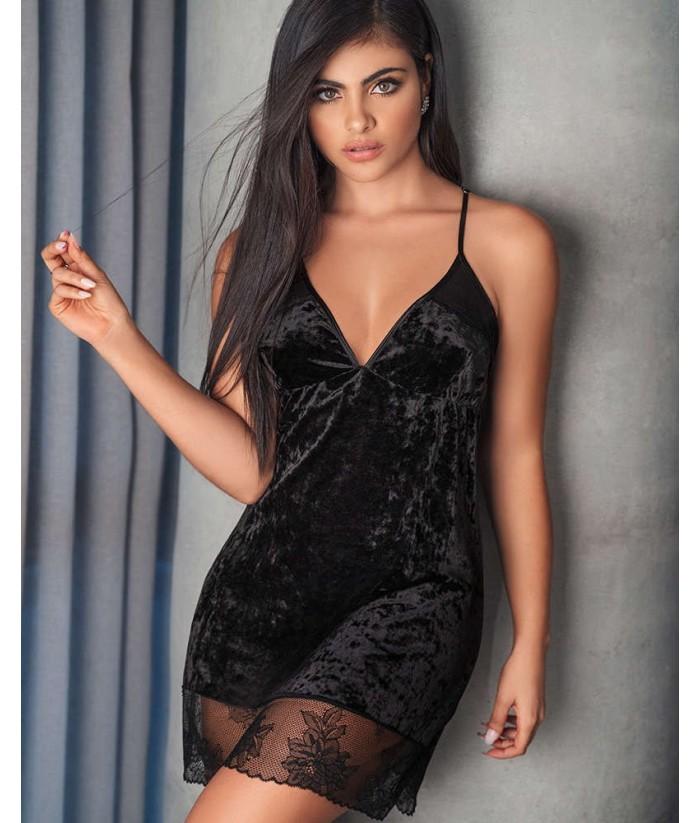 Pijama Sensual Mujer Tiras Vestido