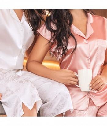 Manga Corta Pijama en Satín