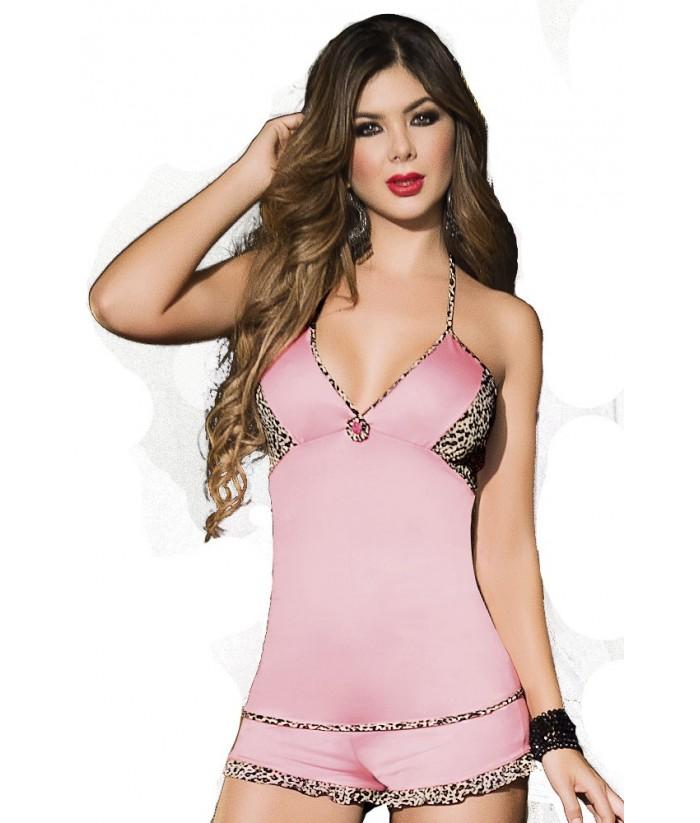 Pijama-Mujer-Rosa-Salvaje-Rosa