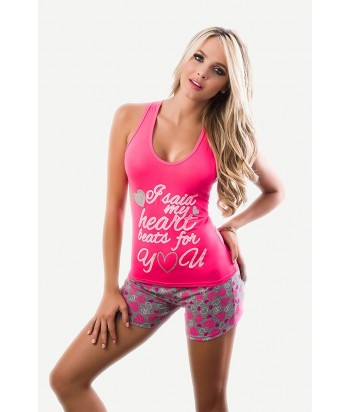 Conjunto-Short-Manga-Sisa-YOU-LOVE-Fucsia