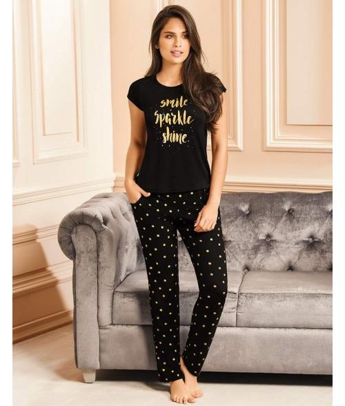 Pijama Dama Pantalon Largo Smile Sparkle Shine