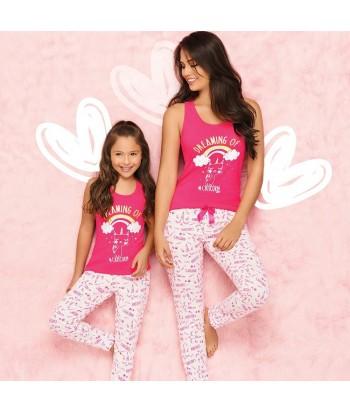 Pijama-niña-cute-blusa-estampada-caticornio-catcorn-gato-jogger-estampado-rosado