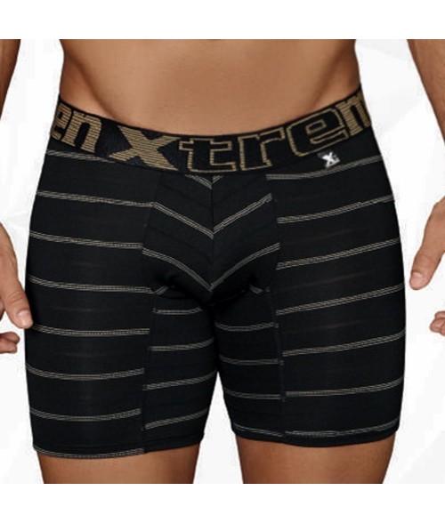Boxer para Hombre Boxer Largo-Rayas Brillante  - Negro