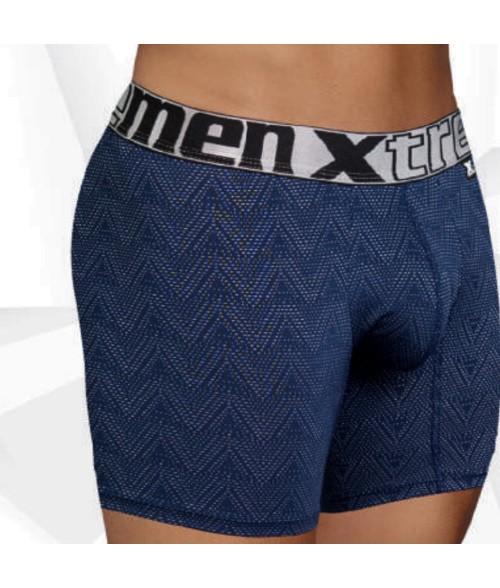 Boxer para Hombre Boxer Largo-Rayas Tiza  - Azul
