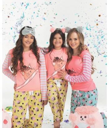 Pijama-para-Niña-M.-Larga-Pantalón-Confite