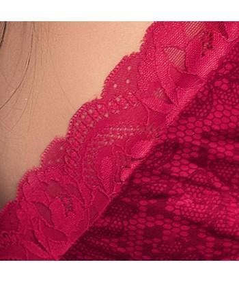 Blusa estampada de cargadera doble espalda de escote profundo con detalle en encaje