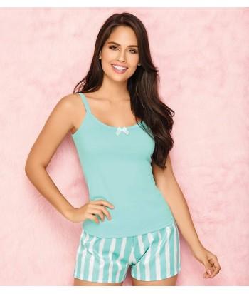 Pijama-blusa-sexy-tiras-anchas-short-mujer-sensual-vinotinto-azul-oscuro