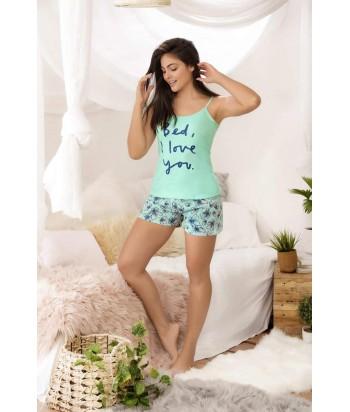 Pijama Dama Short Espalda de escote profundo