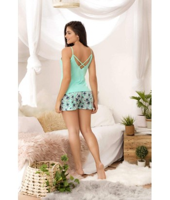 Pijama para Dama Blusa de tiras Short Espalda de escote profundo