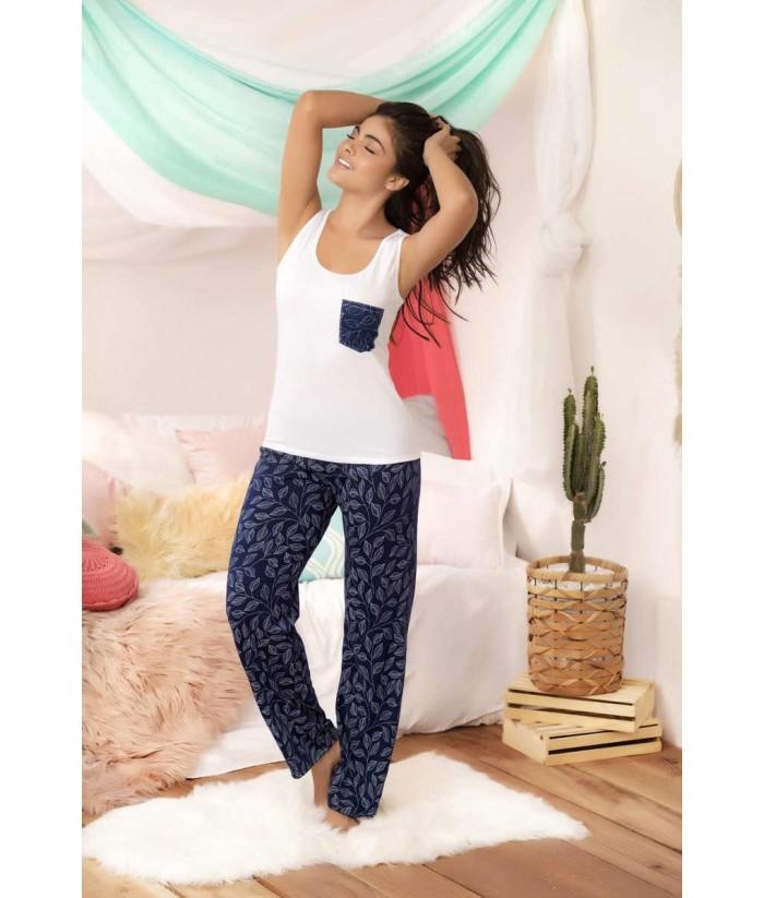 Pijama Dama Pantalón Estampada