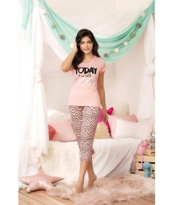 Pijama Dama Capri Estampada