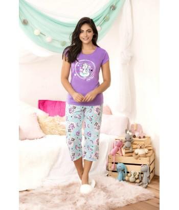 Pijama Dama Capri Unicornio