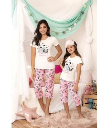 Pijama Dama Capri Perro gato