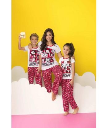 Pijama para Niña Manga Corta Pantalón Mickey Mouse Disney