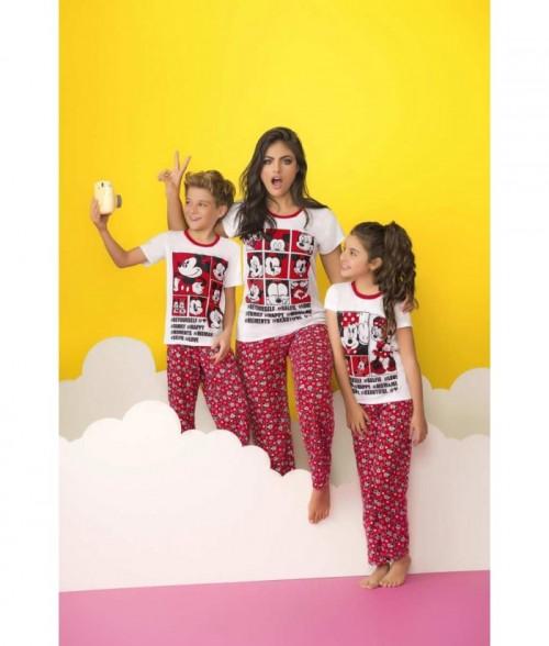 Camiseta manga corta estampada y pantalón largo - familia