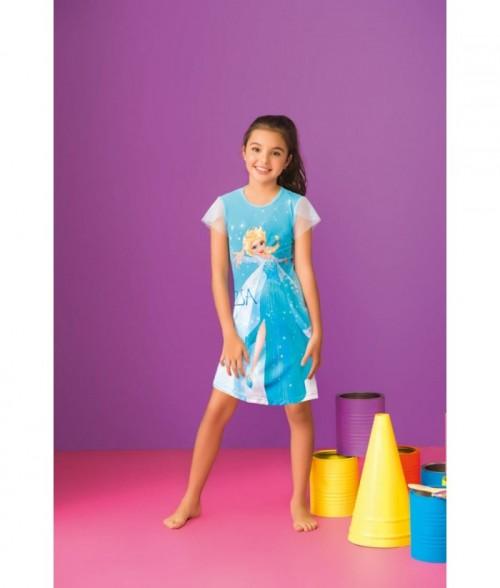 Pijama para Niña Batola Manga Corta Vestido Frozen Disney princesa