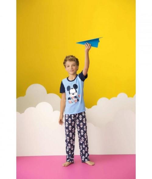 Pijama para Niño Manga Corta Pantalón Mickey Mouse Disney