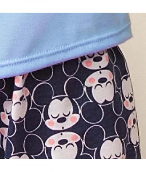 Camiseta manga corta estampada Mickey Mouse.