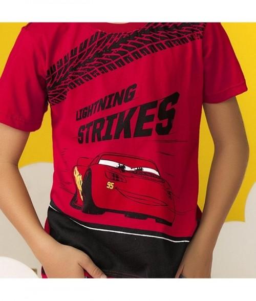 Camiseta niño manga corta con estampado Cars