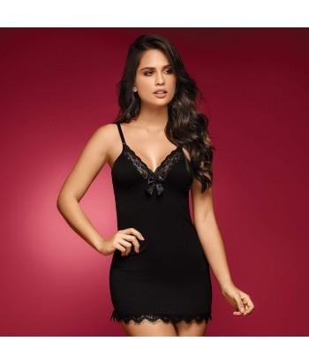 Babydoll-sexy-tiras-encaje-moño-negro-completo-mujer-sensual